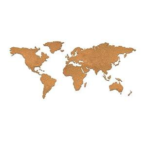 Luckies of London – Tablero de corcho con diseño de mapamundi