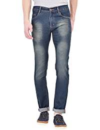 ANSH FASHION WEAR Men's Jeans - Contemporary Straight Fit Denims For Men - Washed Mid Rise Comfortable Jeans