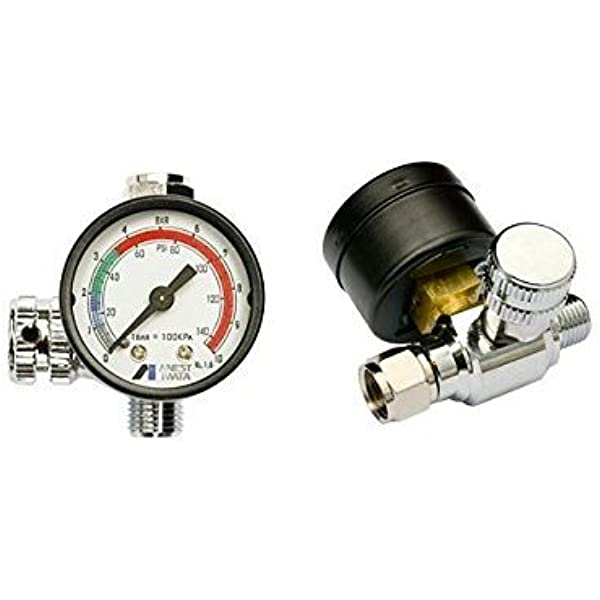 Anest Iwata Impact Controller 2 Manometer Luftregler Für Lackierpistolen Auto