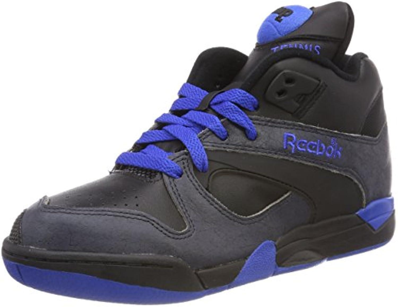Reebok COURT VICTORY PUMP Zapatillas Negro Azul Cuero para Hombre -