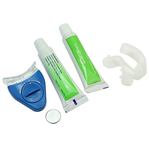 Zahnweiß Set Zahnaufhellung Bleaching Gel Zahnpflegeset Gerät Zähne Tablett neu
