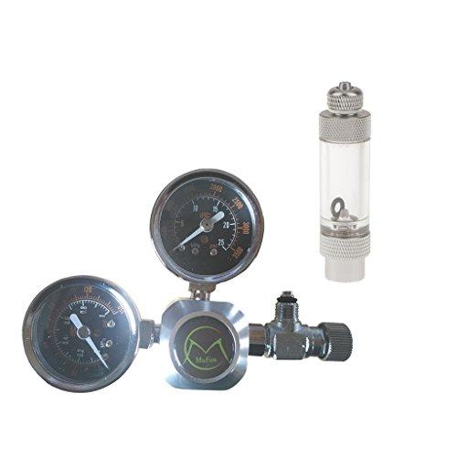 Aquarium C02Regler Controller Druckminderer CO2Messgerät mit Anpassung Nadel Ventil und Bubble Counter für Live Tank -