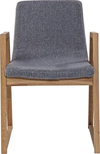 Kare Trapez Esszimmerstuhl, 80867, moderner Designstuhl im Retro-Look mit Armlehnen, grau (H/B/T) 83x55x50cm