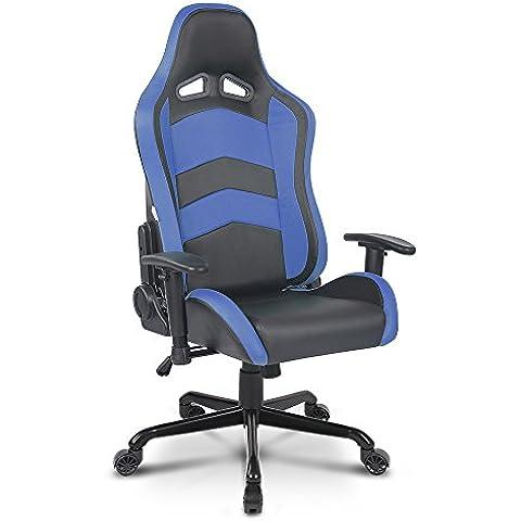 IKAYAA Gaming Sedia Da Corsa Stile Ergonomica Esecutivo Computer Sedia da Ufficio Regolabile