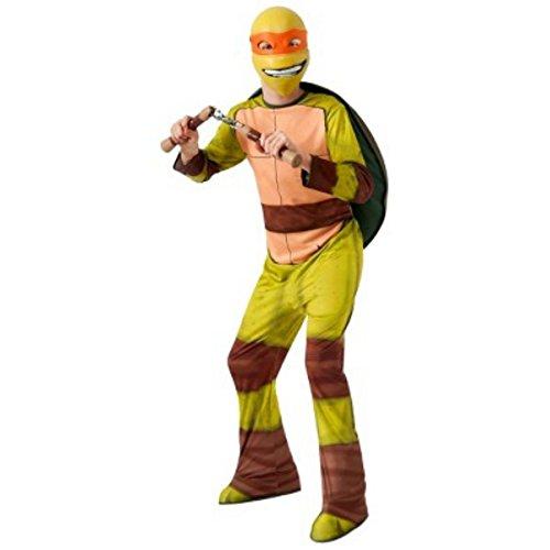 Rubie's TMNT Teenage Mutant Ninja Michelangelo Kostüm für Kinder (140/152) (Für Tmnt-kostüme Kinder)