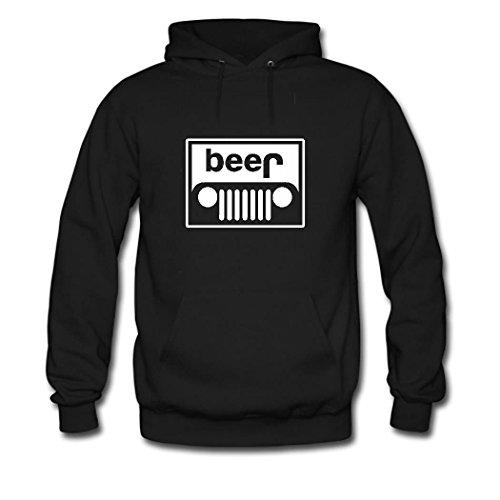 weileDIY Beer Jeep DIY Custom Women's Classic Hoodie Sweatshirt Black