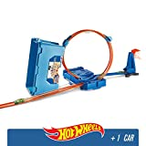 Hot Wheels FLK90 Stunt Builder Super Multi-Looping Box, Mehrfarbig