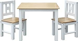IB-Style - Kindersitzgruppe LUCA | 3 Kombinationen | Set: 1x Tisch + 2x Stühle - Stuhl Truhenbank Kindermöbel Tisch Kindertisch Kinderstuhl