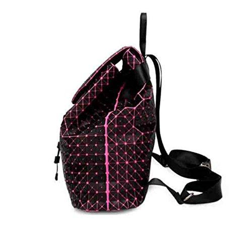 Frauen Rucksack Geometrische Silikon Lingge Damen Schultertasche Japan Reise Freizeit Rucksack a