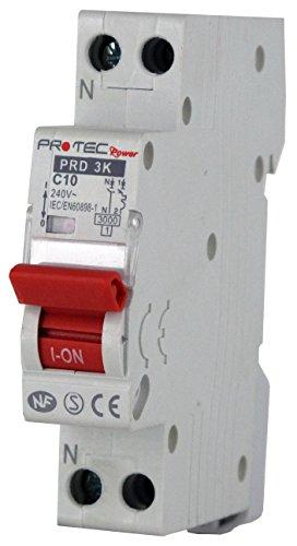 Disjoncteur PROTEC 10A - Disjoncteurs de protection contre les surintensités pour installations...