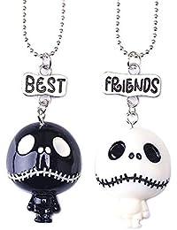 Dunbasi Juego de 2 Collares de Halloween Decorativos para niños con diseño de Calavera y Calavera