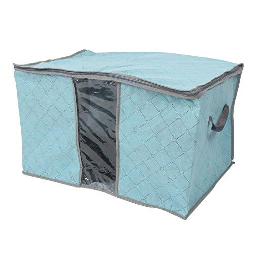 sourcingmap® Haus faltbare RV staubdicht DeckbettKleidung Lagerung Tasche Behälter Blau (Faltbare Rv-tasche)