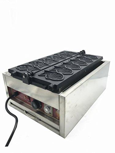 cgoldenwall np-724peces comerciales tipo 6pcs Waffle máquina de hacer Taiyaki peces forma antiadherente de Ice Cream Maker Máquina Gofrera Waffle estufa eléctrica de Baker 110/220V 3KW 110V