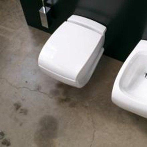 Sanitari Bagno Sospesi moderni design Hi-Line in ceramica Bianca (Coprivaso Frizionato Hi Line)