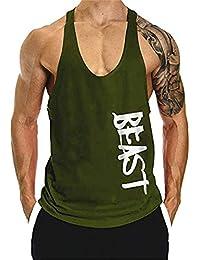 5782da84bc8fe6 The Blazze Men s Beast Tank Tops Muscle Gym Bodybuilding Vest Fitness  Workout Train Stringers