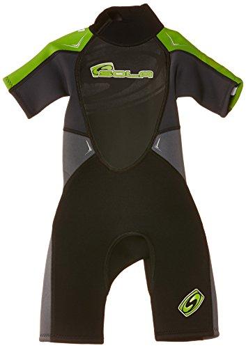 Sola Jungen Storm 3/2 Neoprenanzug für Kinder XS schwarz - schwarz / grün