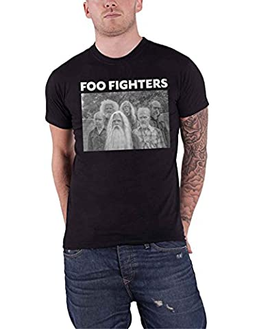 Foo Fighters T Shirt Old Band photo logo nouveau officiel Homme
