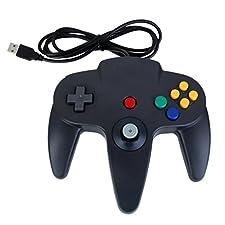 Mando Clásico Negro Cable USB Mando De Juegos Para Nintendo 64 N64 PC MAC