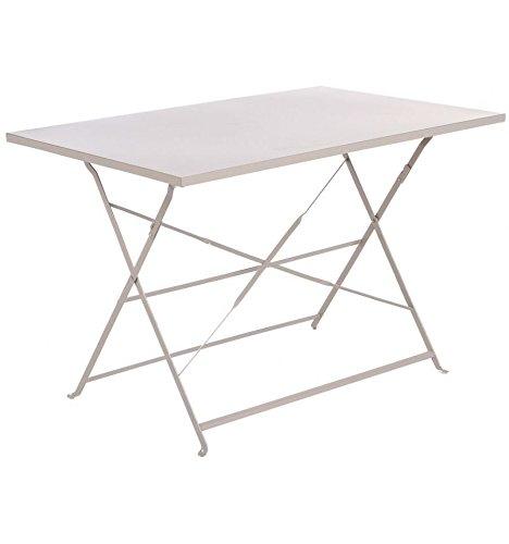 Hespéride Table rectangulaire pliante 110x70cm Camargue taupe