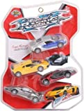 Nile Toys® Unbreakable Superior Racing Speed Car Toys Set (Multicolor, Pack of: 4)