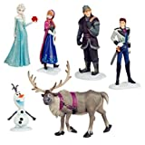 B-Creative 6pc Frozen Princess Cake Toppers Elsa Olaf Anna Figures Set Disney Toy Topper UK