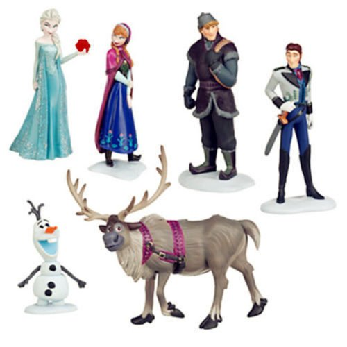 B-Creative 6pc Frozen Princess Cake Toppers Elsa Olaf Anna Figures Set Disney Toy Topper UK