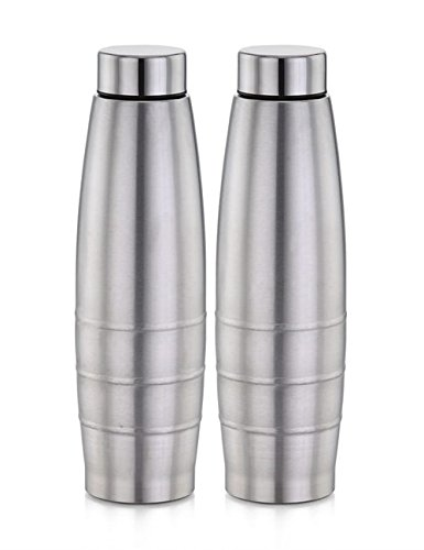 Amogh Stainless Steel Water Bottle 1000 ml set of 2 Pcs