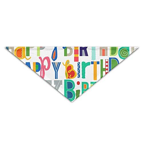 Gxdchfj Colorful English Letters Pet Dog Cat Puppy Bandana Triangle Head Scarfs Accessories (Kundenspezifischer Kostüm Outfit)