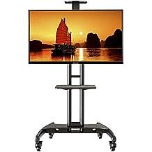 """NB AVA1500-60-1P - Soporte móvil de suelo para pantallas LCD, LED , Plasma y curvadas de 32"""" a 65"""" (81-165 cm) y hasta 45,5 kg"""