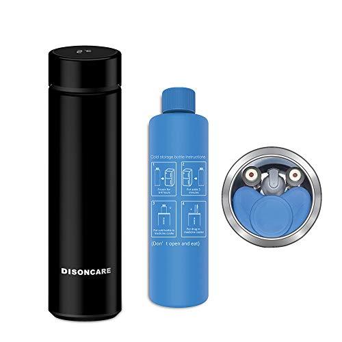 Dison Care Insulin-Kühler-Tasche Tragbare Insulin-Tasche Travel Keep Chilled Meds bei 2-8 Grad, LED-Temperaturanzeige Insulin-Kühler-Reise-Tasche Schwarz