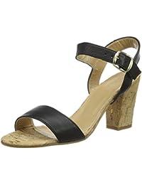 Shoe Biz Damen 0762 Knöchelriemchen Sandalen mit Blockabsatz