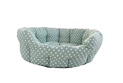 Ochre And Ocre Organic Cotton Pet Bed Madelaine Small Sage