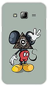 Crazy Beta MICEKYMOUSE WITH TRIANGLE FACE Printed Back Cover for Samsung Galaxy J3