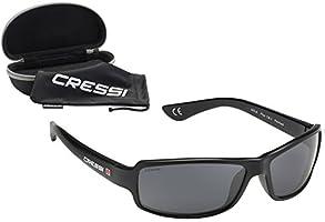 Cressi Ninja Occhiali Sportivi da Sole Polarizzati con Protezione UV 100%, Versione Flessibile/Galleggiante