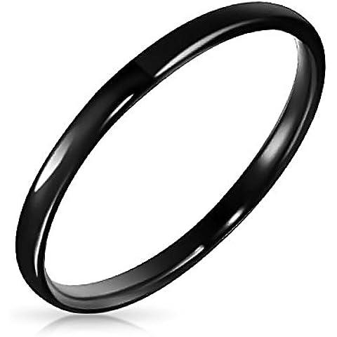 Bling Jewelry Tungsteno anello matrimoniale unisex