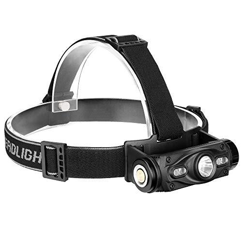 Preisvergleich Produktbild LRJ Super helle LED-Scheinwerfer-Taschenlampe,  wiederaufladbare USB-Arbeitsscheinwerferlampe,  wasserdichter kampierender Scheinwerfer für das Kampieren,  Radfahren,  im Freien