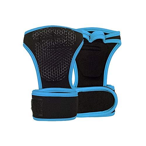 WXH Palm Support/Thumb Sleeve Weightlifting Handschuhe Adjustable Compression Strap mit elastischer und atemberaubender Fabrik für Tendonitis Sports Bowling Boxing,Blue,L