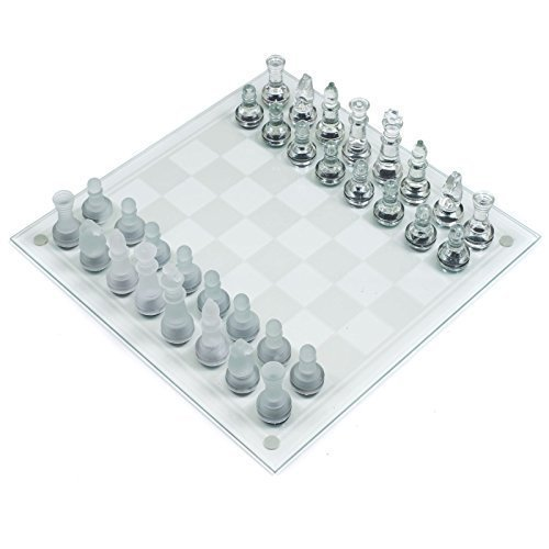Preisvergleich Produktbild Deluxe 32 Stück Milchglas Mainboard-schachspiel Traditionell Party Spaß Spiel Geschenk