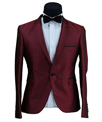 Daniel Gallotti Slim Fit Herren Sakko in Blau•Bordeaux•Creme•Gold•Rot•Schwarz•Silber•Weiss (Tuxedo Gold)