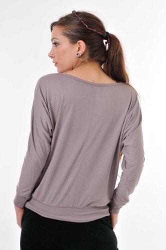 tunique lâches femme chauve-souris / Chemise à manches longues / Haut imprime élément magique de 3Elfen - pull over dames Brun Blanc