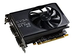 EVGA GeForce GT 740 2GB Super Clocked GDDR5 128-Bit Dual DVI mHDMI Graphics Cards 02G-P4-3747-KR