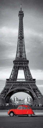 Empire 426888 Poster da porta Parigi, Torre Eiffel e Citroen 2CV, 53 x 158 cm