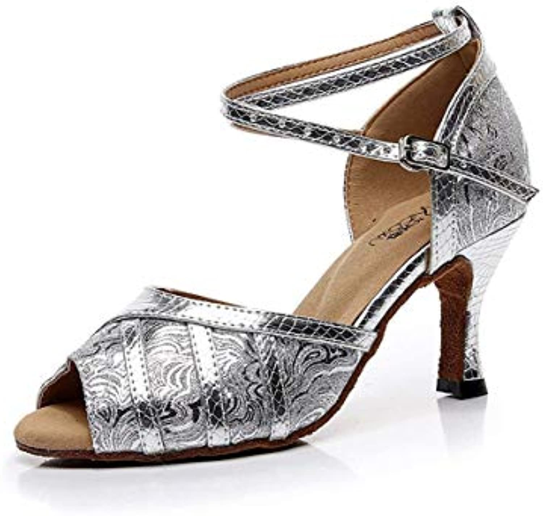 Qiusa Cinturino alla Caviglia da Donna Fatto a Mano in argentoo Sintetico Ballerini da Ballo Latino da Ballo Salsa... | ecologico  | Gentiluomo/Signora Scarpa