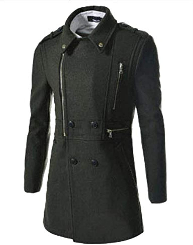 ... Saoye Fashion Fashion Fashion Cappotto Lungo in Lana Invernale da Uomo  Trench Giovane Giacca Invernale Sottile 25695085071