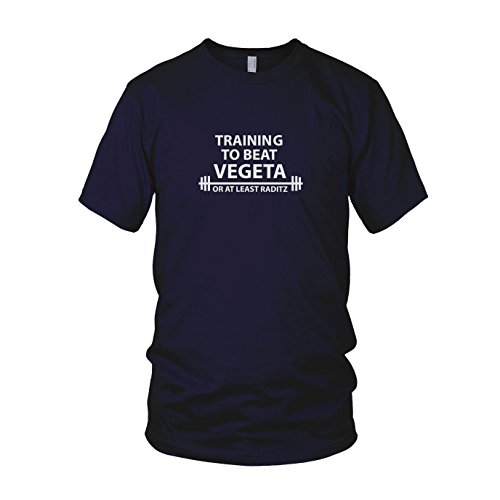 DBZ: Training to Beat Vegeta - Herren T-Shirt Dunkelblau