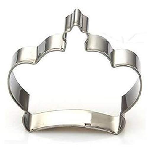 huamaojiancai Ausstechform aus Edelstahl, Motiv Prinz Prinzessin Krone Crown a