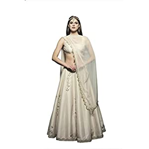 DIVYA THUKRAL Stylish Ivory Silk Lehenga Set for Women
