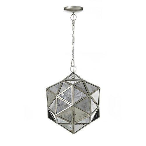 Lámpara de techo árabe plateada de cristal de salón Arabia