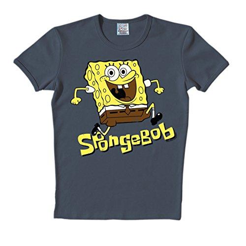 T-Shirt Spongebob - Rundhals Shirt - Rundhals Shirt von LOGOSHIRT - blau - Originaldesign, Größe XXL (Spongebob Figur Kostüme)
