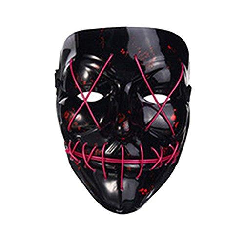 lzn leuchtet Maske led maske aus dem Purge Wahl Jahr Maske Fest Halloween Cosplay (Maske Purge)